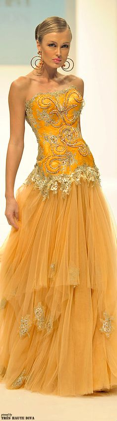 Dar Sara Spring/Summer outfits womens fashion clothes style apparel clothing closet ideas bright yellow formal evening dress long maxi