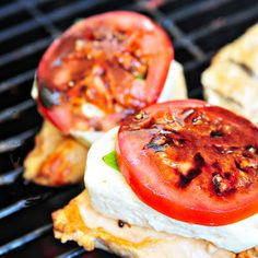 Caprese Grilled Chicken with Balsamic...  my husband and I love Caprese  this will be an awesome turn to make it more a meal:)