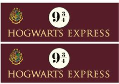 Hogwarts Express free downloadable signage via brytontaylor.com | Food in Literature