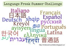foreign language club | Language Freak Summer Challenge: Announcement and Sign-ups!