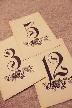 Vintage Wedding 20 Table Numbers printable by perfectlywhimsical, $7.99