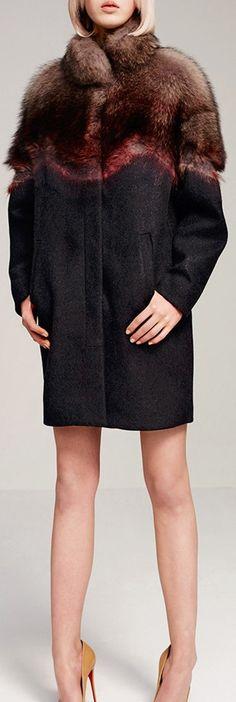 JO NO FUI Marmot Fur Agugliatura Overcoat
