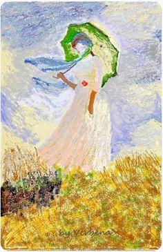 Monet e le dame con il parasole
