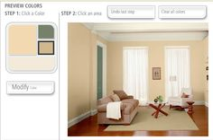 My favorite paint color: Butter Cookie (yellow) by Behr...we have it in our living room and I LOVE it!