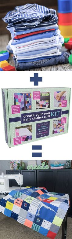 YES I need this! I have wanted to make baby clothes quilt and this kit (on Amazon Prime, yay!) would make me feel a lot more confident about cutting those clothes up, lol! #howtomakeababyclothesquilt #diy #diybaby #babyclothesquilt https://www.amazon.com/dp/B071XVFFN1