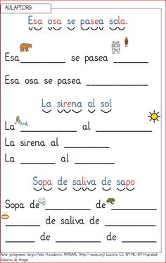 cartilla-lectura-s2 Spanish Lessons For Kids, Spanish Teaching Resources, Spanish Language Learning, Writing Resources, Bilingual Education, Christian School, Preschool At Home, Spanish Classroom, Beginning Of School