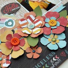 Flowers created by design team member Vicki Boutin using our Daily Grind collection and Spellbinders dies