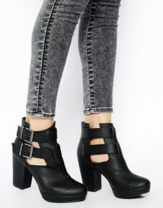 Image 4 of New Look Cutter Cut Out Ankle Boots