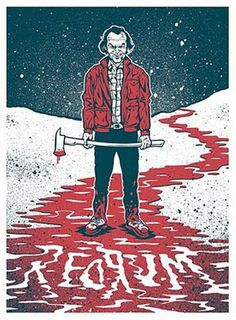 Redrum - The Shining Artwork Stephen King It, Steven King, Stanley Kubrick, Horror Icons, Horror Art, Horror Drawing, The Shining, Scary Movies, Horror Films