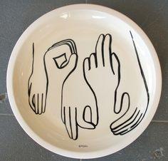 Heath Ceramics x Geoff McFetridge'splatter