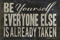 EB Be Yourself Black Custom Framed Wall Art