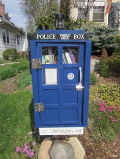 Ava Bur. Minneapolis, MN.  	 When I had to do a community service project for my class, I immediately thought of creating a Little Free Library. Since I had just become a Doctor Who fan, I decided to make the Little Free Library look like a TARDIS (time and relative dimension in space ;-D)
