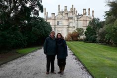 Evelyn Boscawen and his wife, Katharine, at their home, the Tregothnan Estate near Truro in Cornwall.