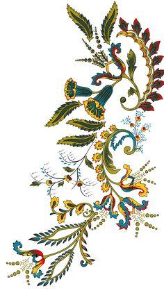 Hd Flowers, Botanical Flowers, Peony Flower, Draw Flowers, Flower Art Images, Native American Patterns, Border Embroidery Designs, Arabic Design, Leaf Art