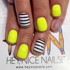 Neon + stripes. Probably use differnt colour but cool idea