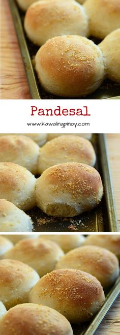 Filipino-style sweet rolls, these light brown, crumb-speckled pandesal buns can be enjoyed with any sandwich spread or filling.
