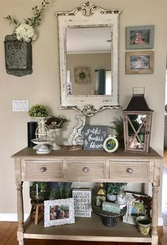4 Entry Table Decor Farmhouse Entryway 7 Entryway Furniture: Do Not Neglect Your Foyer! Farmhouse Entryway Table, Rustic Entryway, Entryway Decor, Farmhouse Decor, Entryway Table Decorations, Modern Farmhouse, Shabby Chic Entry Table, Rustic Entry Table, Entry Tables
