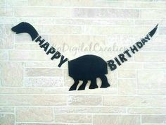 Dinosaur birthday banner Dinosaur banner by KpDigitalCreations