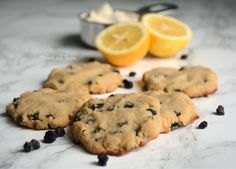 AIP Cookies - egg-free, nut-free, lemon + blueberry paleo cookies