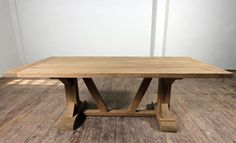 Amazing tables!  This is the Salvage Teak Distressed Dining Table. Check out www.frenchcountryfurnituredirect.com