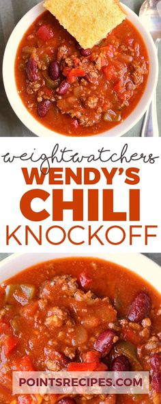 Wendy's Chili Knockoff (Weight Watchers SmartPoints) # forskolin weight loss