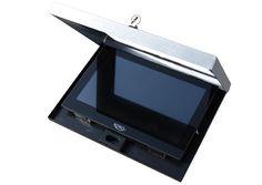 Abschließbares Tabletgehäuse Edelstahl-Schwarz Sonderbau für 12.2 Zoll Tablet-PC