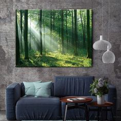 Landscape canvas painting picture wall art for home room print beautiful sunrise forest poster 3d Wall Painting, Canvas Painting Tutorials, Canvas Painting Landscape, Landscape Walls, False Ceiling Design, Geometric Wall Art, Office Wall Art, Beautiful Sunrise, Pictures To Paint
