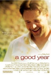 A Good Year (2006) An Englishman inherits a vineyard from his uncle in Provence, France. When failed banker Max Skinner moves abroad to accept what his late uncle left him, he meets a beautiful French woman along with an American who claims to be his long-lost cousin. Russell Crowe Abbie Cornish, Albert Finney...Romantic