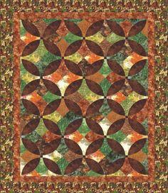 Indian Summer quilt, Hoffman Fabrics free pattern