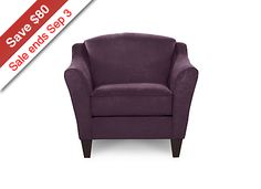 Demi Stationary Occasional Chair - Official La-Z-Boy Website, Color - Vineyard; Fabric Cover