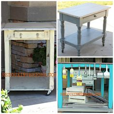 Upcycle Your Table to a Rolling Kitchen Island or Work Table
