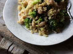 Broccoli White Bean Lemon Quinoa. Fresh, healthy, easy. What more do you want?
