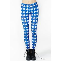 Stars And Bars Leggings ($42) ❤ liked on Polyvore
