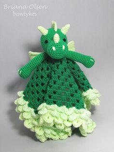Dragon Lovey amigurumi crochet pattern by Bowtykes
