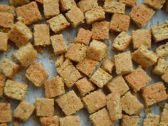 Gourmet Girl Cooks: Grain Free Stuffing Bread Cubes -- Use In Your Favorite Stuffing Recipe or as croutons Wheat Free Recipes, Gluten Free Recipes, Low Carb Recipes, Baking With Almond Flour, Almond Flour Recipes, Coconut Flour, Paleo Bread, Low Carb Bread, Trim Healthy Recipes