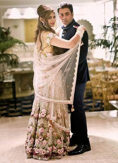 A beautiful Falguni and Shane Peacock creation for the engagement of Real Bride Rachana Navale of WeddingSutra.