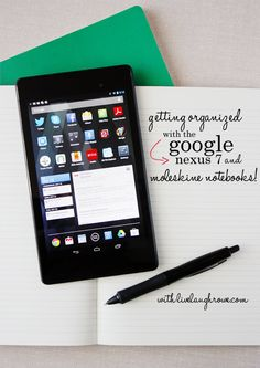 Getting Organized with the Google Nexus 7 and Moleskine Notebooks.  See how at livelaughrowe.com + #giveaway!