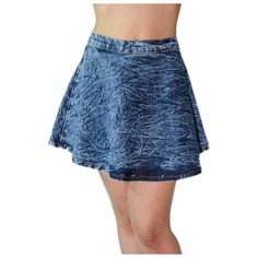$29, Acid Wash Denim Skater Skirt L by Soho Girl. Sold by buy.com. Click for more info: http://lookastic.com/women/shop_items/112638/redirect