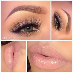 "Nudes Soft and Simple |Eyes| Wearing @alashlashes ""The Aubrey"" lashes |Brows| @anastasiabeverlyhills Brow Powder Duo ""Auburn"" & Dipbrow Pomade ""Dark Brown"" Tear Duct• Avon Metallic Liquid eyeliner ""Gold Flash"" @anastasiabeverlyhills Covet Waterproof Eyeliners ""Noir"" and ""Gilded"" |Lips| Wearing @maccosmetics Lipstick ""Blankety"" topped with @maccosmetics Cremesheen Glass ""Fashion Whim"" and Lipglass ""Nymphette"" |Brushes| @hairandmakeupaddiction @morphebrushes"