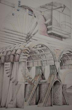 London Brickworks Project - Brickmakers lodge sketch perspective Wimborne Minster, Brickwork, Thesis, Perspective, Fair Grounds, Sketch, London, Projects, Travel