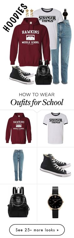 """Stranger Things"" by haybelle0207 on Polyvore featuring Topshop, Converse, contest and Hoodies"