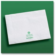 Hoffmaster 358-W Earth Wise Recycled Embossed 2 Ply Dispenser Napkin  #gscertified #green #sustainable