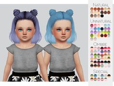 TS4 Toddler Hair Retexture 02 - Leahlillith's Layla• 90 Colors • Retexture • Thumbnail • Standalone The beautiful Mesh is by LeahLillith But was converted by me, you need both My Retexture and The...