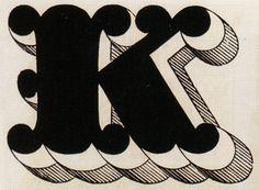 newhousebooks: K, 1579, typefoundry of Gottlieb Haase Söhne, Prague