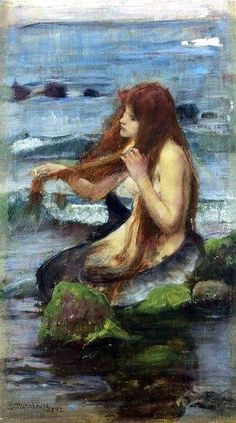 Reproduction oil paintings - Waterhouse - Study for The Mermaid