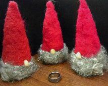 Small Tomte: Needle Felted Swedish Santa