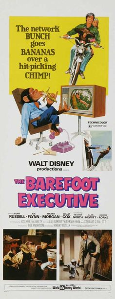"Walt Disney's, ""The Barefoot Executive"" (1971) Stars: Kurt Russell, Joe Flynn, Harry Morgan, Wally Cox, John Ritter, Jack Bender, Heather North ~ Director: Robert Butler"