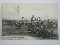 Carte Postale Ancienne CPA Salonique Thessalonique Grece Incendie 1917 | eBay