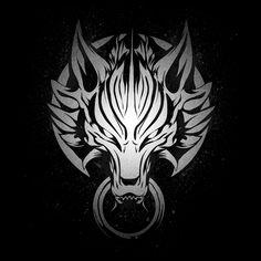 Shop Cloudy Wolf final fantasy vii t-shirts designed by ddjvigo as well as other final fantasy vii merchandise at TeePublic. Fenrir Tattoo, Norse Tattoo, Viking Tattoos, Final Fantasy Tattoo, Final Fantasy Artwork, Final Fantasy Vii, Wolf Emblem, Wolf Artwork, Wolf Wallpaper
