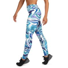 This is definitely a blue dream! Super soft, stretchy and comfortable yoga and sports leggings make sure your next training session is the best one ever! Made with a smooth, comfortable microfiber yarn. Sports Leggings, Yoga Leggings, North Miami Beach, Blue Dream, Spandex Material, Looking Stunning, Feeling Great, Looks Great, Products